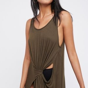 Free people green Colby asymmetrical top